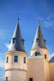 城堡de塞戈维亚宫殿,著名古老堡垒,塞戈维亚,西班牙细节  库存图片