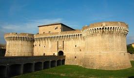 城堡della意大利中世纪rovere senigallia 免版税库存照片