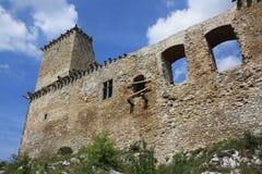 城堡diosgyor 免版税库存图片