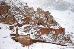 城堡dogubayazit东部最近的老火鸡 免版税库存照片
