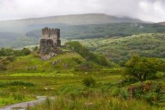 城堡dolwyddelan snowdonia 免版税图库摄影