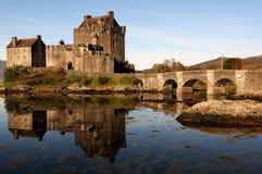 城堡donan eilean苏格兰 库存图片