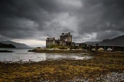 城堡donan eilean 图库摄影