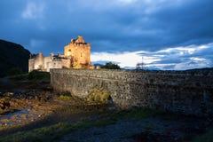 城堡donan eilean 库存图片