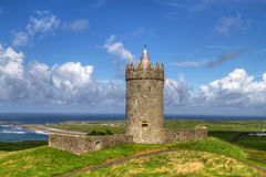 城堡doonagore hdr 库存图片
