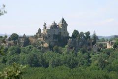 城堡dordogne法国 免版税库存照片