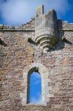 城堡doune苏格兰 阿尔巴尼、地点影片蒙提・派森和圣杯公爵建造的中世纪堡垒 库存照片