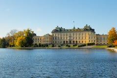 城堡drottningholm 免版税库存图片