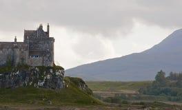 城堡duart小岛仔细考虑在风暴 免版税图库摄影