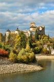 城堡dunajec 库存照片