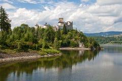 城堡dunajec niedzica 免版税图库摄影