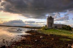 城堡dunguaire爱尔兰 图库摄影
