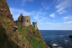 城堡dunluce北部的爱尔兰 图库摄影