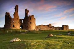 城堡dunstanburgh 库存照片