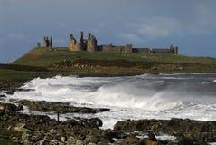城堡dunstanburgh 免版税库存照片
