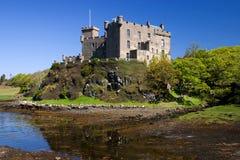 城堡dunvagan skye 图库摄影