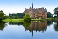 城堡egeskov湖 库存图片