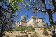 城堡el实际的manzanares 库存图片