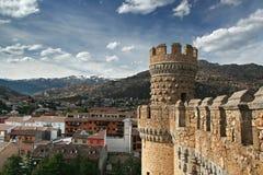 城堡el manzanares实际西班牙塔 免版税库存图片
