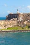 城堡el morro波多里哥 免版税库存照片