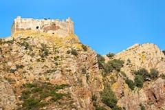 城堡elba小岛volterraio 免版税库存照片