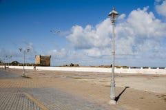 城堡essaouira摩洛哥散步垒 库存图片