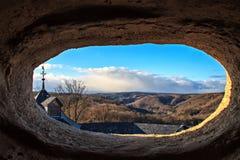 从城堡Falkenstein窗口的看法  免版税库存图片