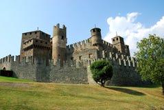 城堡fenis 库存图片