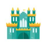 城堡Flat Design Style公主 向量 库存照片