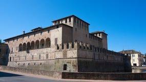 城堡fontanellato 免版税库存照片