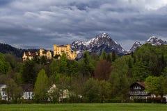 城堡fussen德国hohenschwangau 免版税图库摄影