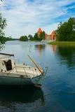 城堡galve湖立陶宛trakai 免版税图库摄影