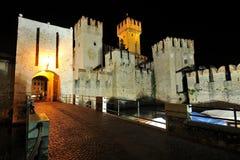 城堡garda意大利湖sirmione 库存图片