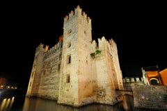 城堡garda意大利湖sirmione 免版税库存照片