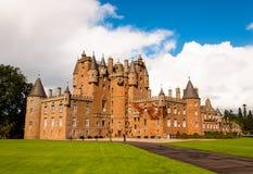 城堡glamis苏格兰 免版税库存图片