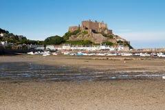 城堡gorey泽西mont orgueil英国 库存图片
