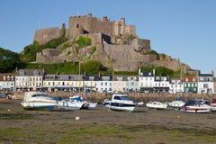 城堡gorey泽西mont orgueil英国 免版税库存图片