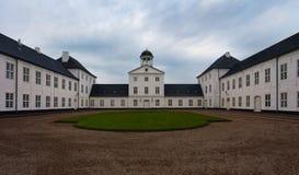 城堡graasten住宅夏天 免版税库存图片