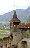 城堡gruy res瑞士 库存图片