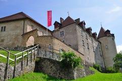 城堡gruyeres瑞士 免版税库存照片