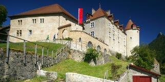 城堡gruyeres 库存图片