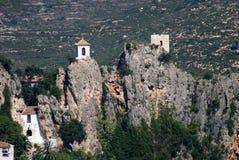 城堡guadalest西班牙 图库摄影