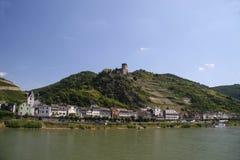 城堡gutenfels 免版税图库摄影