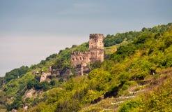 城堡gutenfels 免版税库存图片