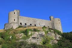 城堡gwynedd harlech威尔士 免版税图库摄影