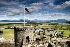城堡harlech王国北部团结的威尔士 库存照片
