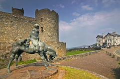 城堡harlech 库存图片