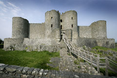 城堡harlech 免版税库存照片