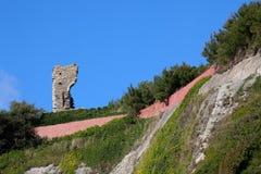城堡hastings废墟 库存照片