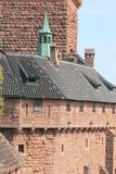 城堡haut koenigsbourg 免版税图库摄影